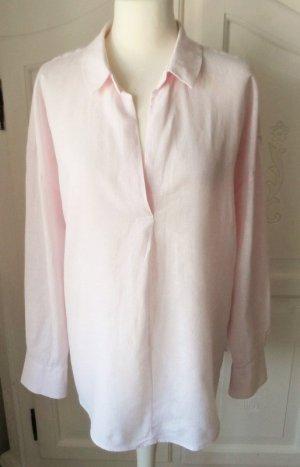 H&M Blouse en lin rose clair tissu mixte