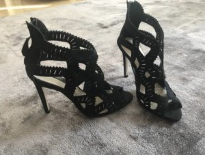 Coole High Heels von ZARA, Velourleder, Gr. 36