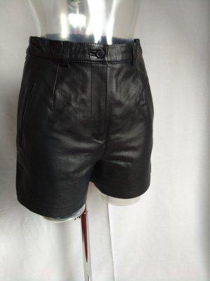 coole high waist Leder Short