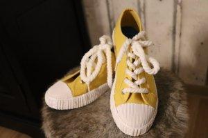 Sneakers wit-geel