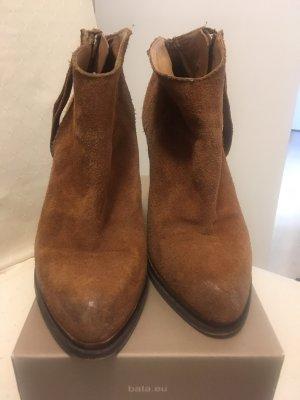 Zara Botines marrón claro