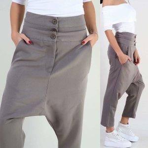 Pantalón abombado gris