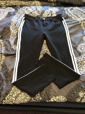 Pantalone cinque tasche nero-bianco