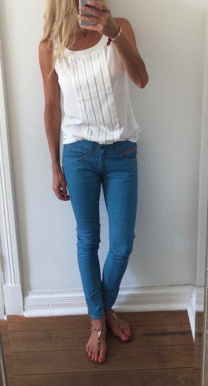 Herrlicher Slim Jeans turquoise lyocell