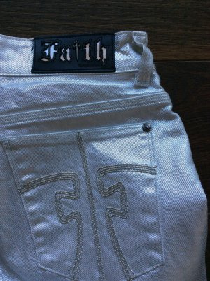 Faith connexion Five-Pocket Trousers silver-colored