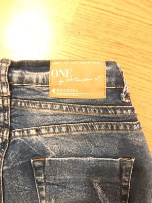 One teaspoon Jeans larghi blu acciaio