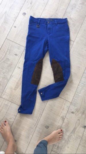 Ralph Lauren Pantalón de equitación azul-marrón oscuro