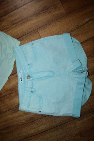 FB Sister Pantalón corto de tela vaquera blanco-azul claro