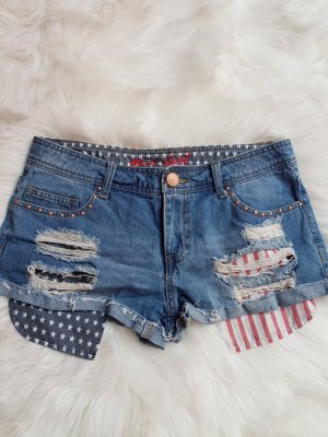 Denim Co. Short multicolore coton