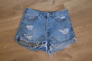 H&M Hot pants azzurro-blu fiordaliso