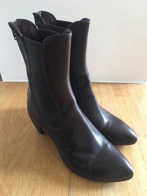 Attilio giusti leombruni Stivaletto con zip marrone-nero-marrone scuro