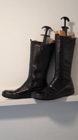 Buskins black leather