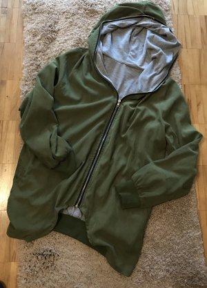 Oversized Jacket khaki-grey