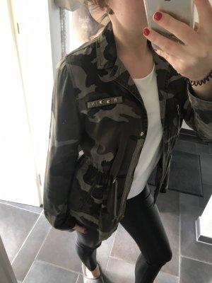 Zara Giacca militare cachi