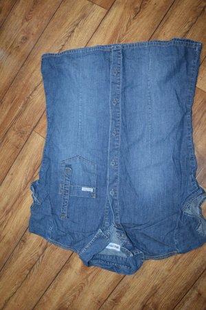 Coole Jeans-Bluse Gr. 42 von Multiblu