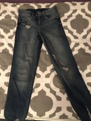 H&M Divided Boyfriend Jeans dark blue