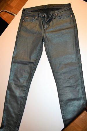 7 For All Mankind Vaquero skinny verde bosque Algodón