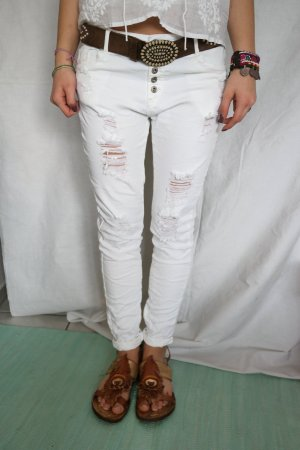 Coole Jeans in weiss passt Gr.L
