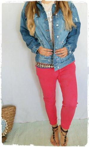 Coole Jeans Jacke Farbklekse