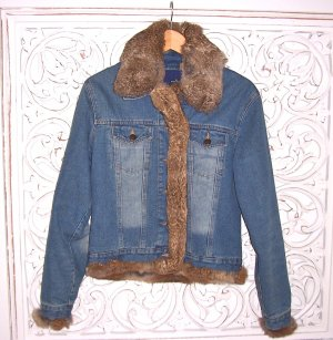 coole Jeans Jacke von NAF NAF mit Fellkragen * Gr. M