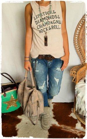 Coole Jeans mit Rissen und Farbkleksen passt Gr.S