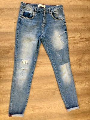 Mos Mosh Jeans boyfriend azzurro-blu acciaio Cotone