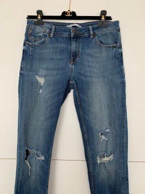 Zara 7/8 Length Jeans blue