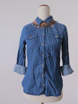 Coole Jeansbluse Vintage Jeanshemd Denim