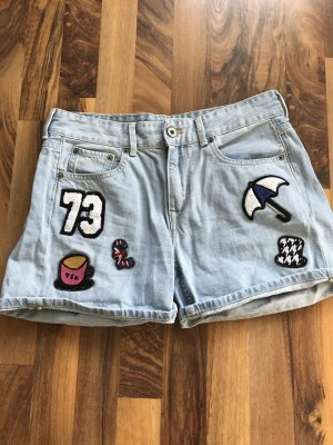 Coole jeansshort mit patches