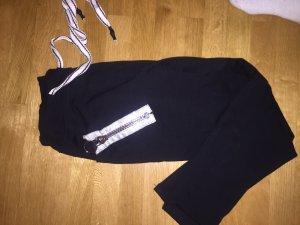 Pantalon «Baggy» noir-argenté