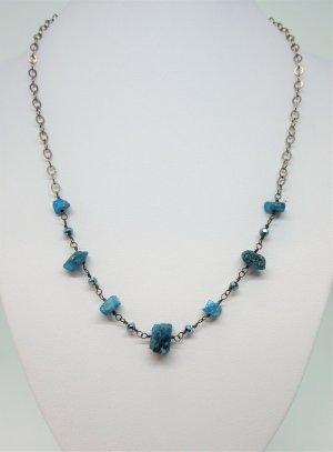 Collana blu fiordaliso-antracite Argento
