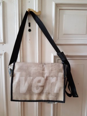 Messengerbag natural white-azure recycled material
