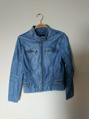 Coole Kunstleder Jacke in Jeans Optik