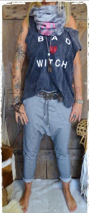 Pantalone boyfriend grigio Cotone