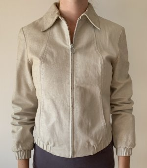 MNG Leather Jacket white-natural white