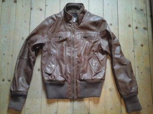 Ann Christine Leather Jacket cognac-coloured