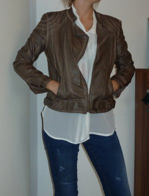 Coole Lederjacke in beige