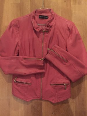 Giacca in ecopelle oro-rosa
