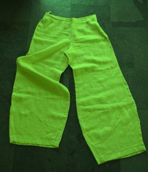 Pantalón de lino verde-amarillo