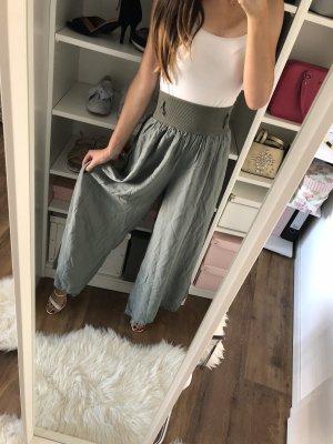 Hoge taille broek groen-grijs-olijfgroen
