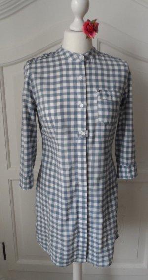 coole Long Bluse / Tunika von ONLY Gr. S Blau Weiß kariert wenig getragen