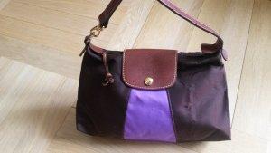 Coole Longchamp Tasche braun lila wie neu