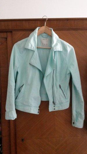 coole mintgrüne Bikerjacke Jeansjacke