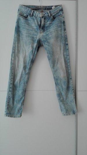 Coole Mom Jeans, kaum getragen, verwaschener Look