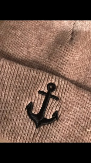 Coole Mütze Anker braun neu