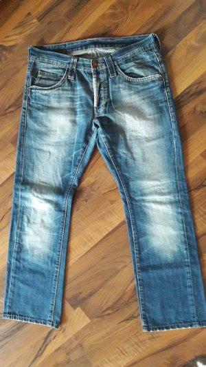Mustang Jeans boyfriend azzurro Cotone