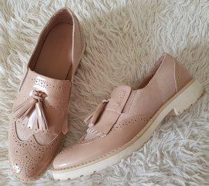 Zapatos estilo Oxford nude