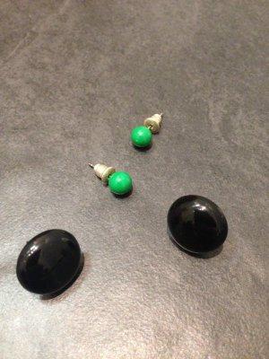 Coole Ohrringe in Schwarz und Grün