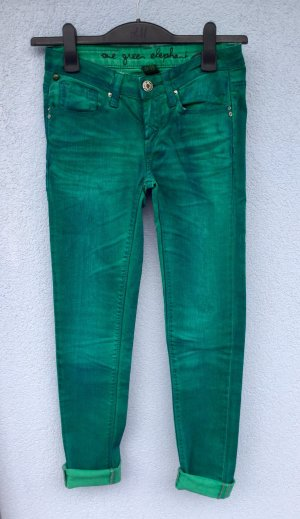 One green elephant Stretch Jeans forest green-cadet blue