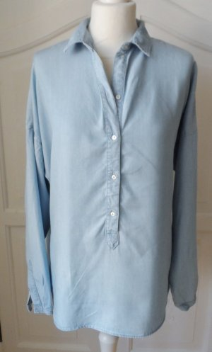 coole oversized ESPRIT Jeanstunika Bluse aus Lyocell Gr. 38 wenig getragen